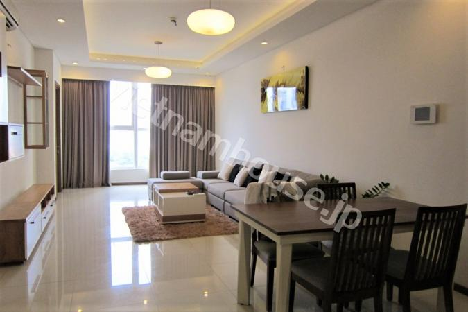 Two-bedroom apartment with wooden floor in Thao Dien Pearl