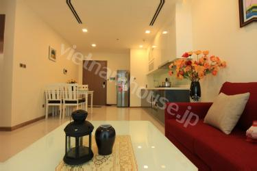 The big living room in luxury apartment in Binh Thanh Dist.