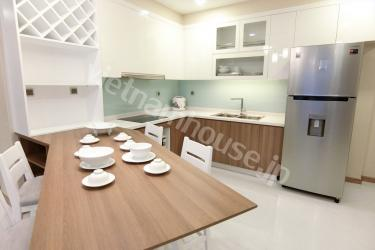 Three-bedroom apartment with nice wooden floor in District Binh Thanh