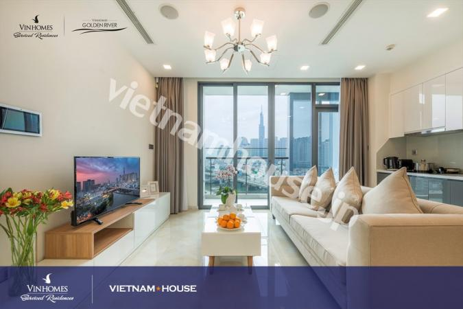 Overlooking Saigon River from Vinhomes Golden River