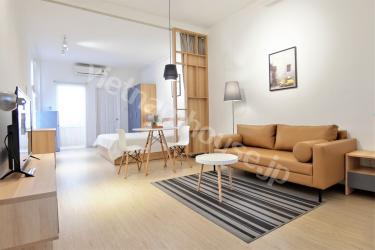 Serviced Apartment for lease on crowded street, District 1
