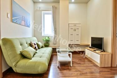 2 Bedrooms serviced apartment with warm interior design in District 1