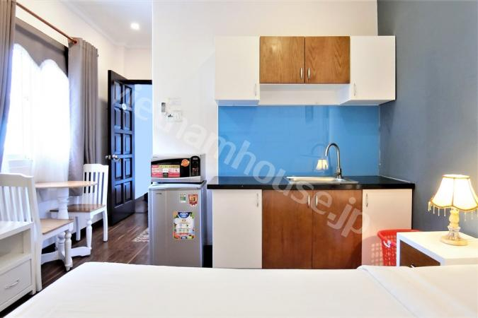 Decent-sized studio apartment near Ben Thanh market