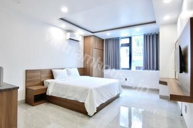 New serviced apartment in car alley of District 1