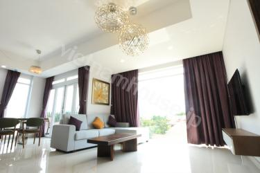 The best luxury serviced apartment in Thao Dien, District 2.