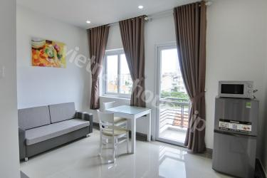Serviced apartment with extra long balcony and nice view