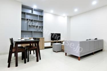 Freshly painted serviced apartment and its two bedrooms