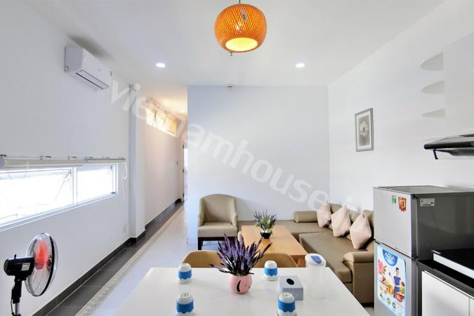 Enjoy fresh air in serviced apartment in Binh Thanh District.