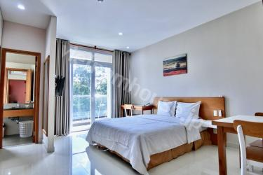 Park view in serviced apartment near Nhieu Loc canal