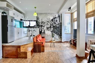 Amazing paintings inside studio apartment